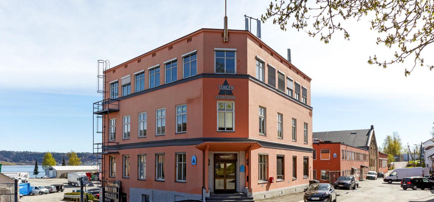 Støperigata 7, Tangen Næringspark, fasade, næringseiendommer, Brække Eiendom