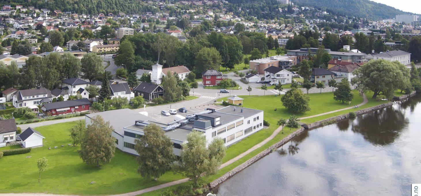 Muusøya 1, dronebilde, næringseiendom, Brække Eiendom