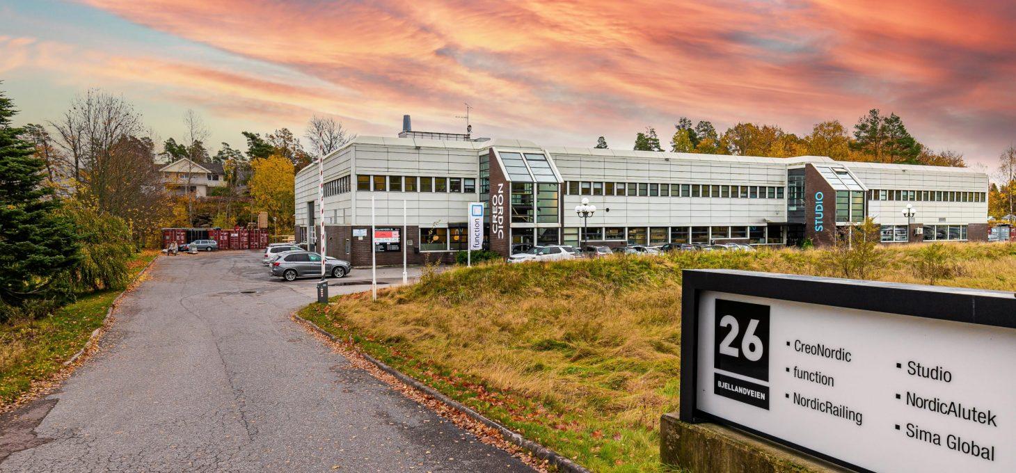 Bjellandveien 26, næringseiendom, Brække Eiendom AS