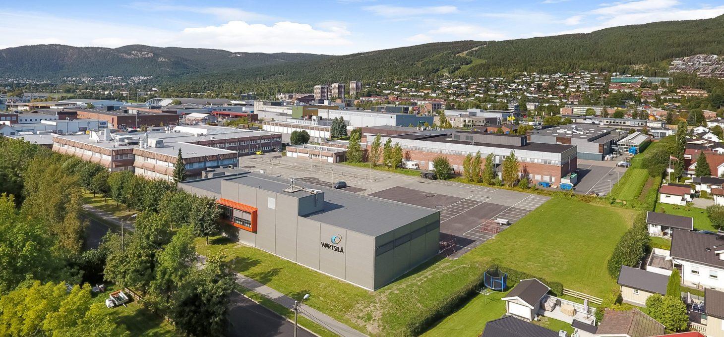 Ingeniør rybergsgate 99, drone, næringseiendom, Brække Eiendom