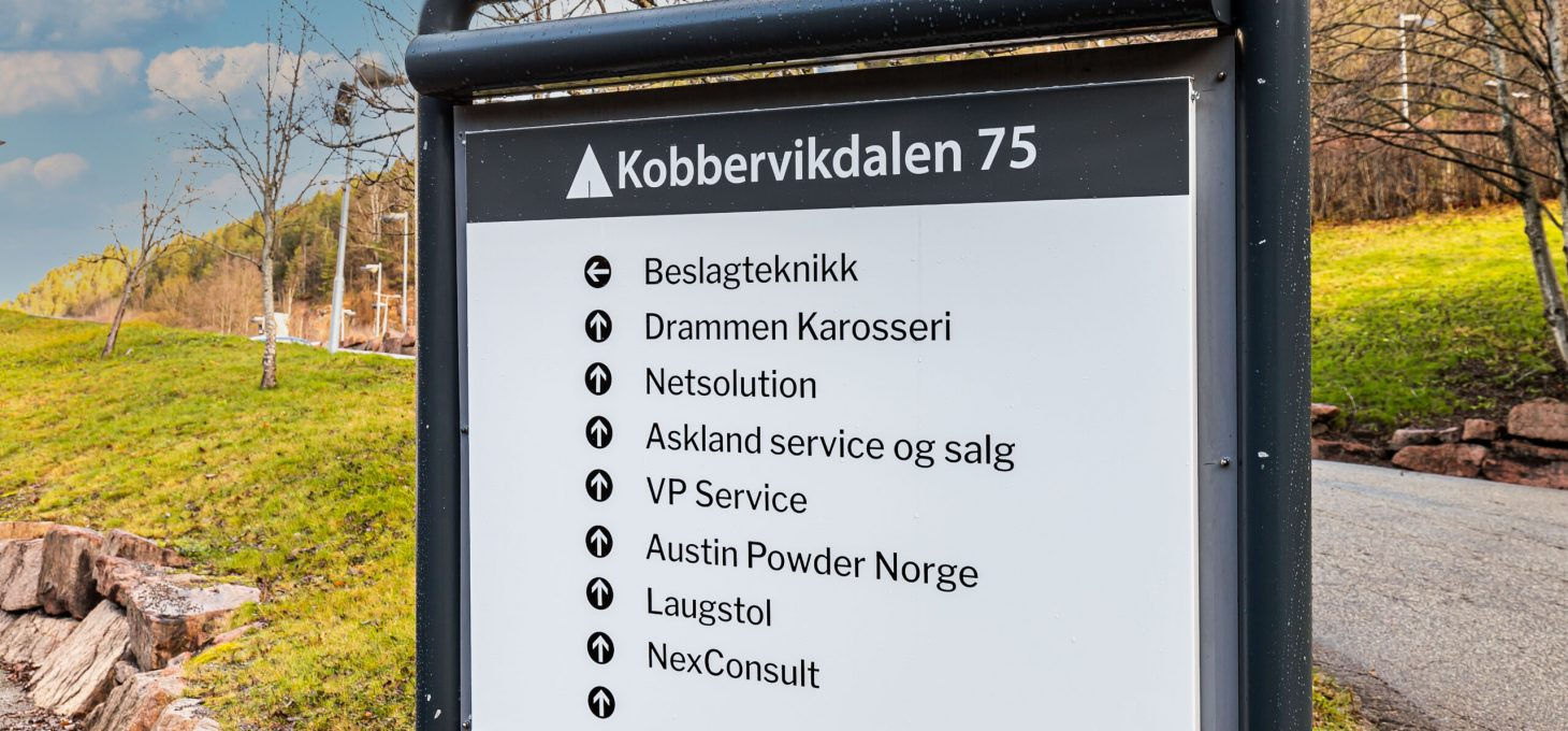 Kobbervikdalen 75 AS, næringseiendom, Brække Eiendom AS